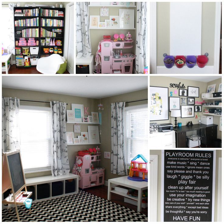 amazing playroom office shared space for the house rh pinterest ca