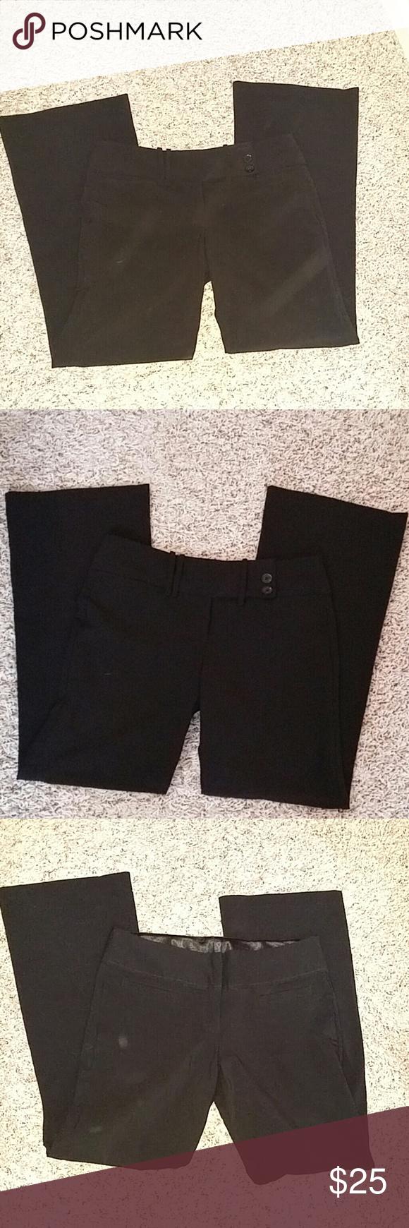 Dress pants office Two Black office pants dress one is missing a button Pants Wide Leg