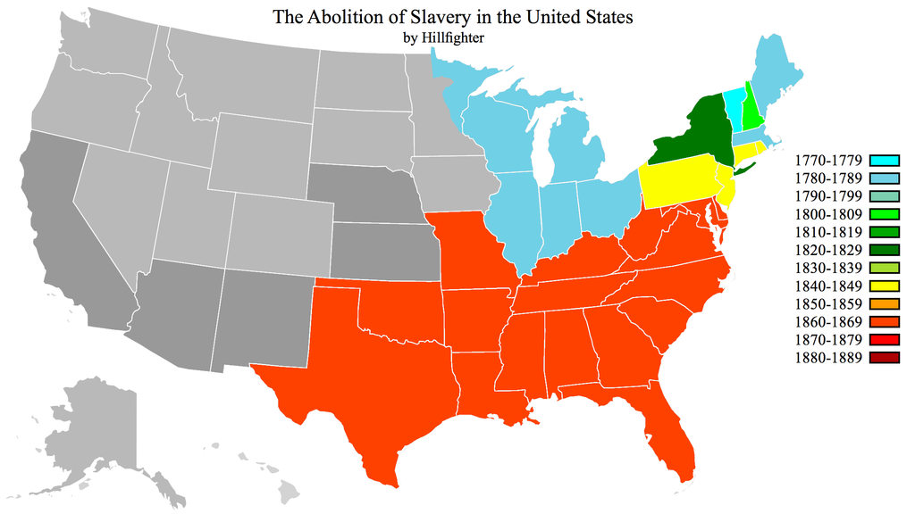Abolition of Slavery in the United States | Historical Maps | Map ...