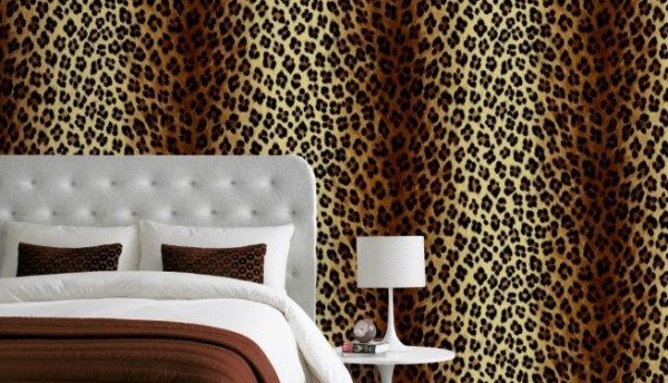 Delightful Leopard Print Wallpaper In Bedroom Http://www.wowwallpaperhanging.com.au Pictures