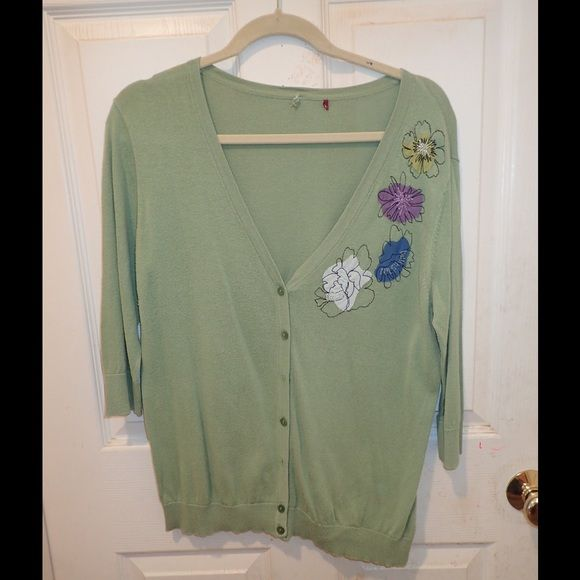 Light green cardigan 7 button light green cardigan with four ...