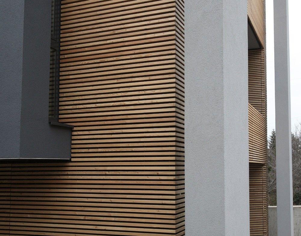 Derako international b v product derako gevelsysteem hout gevel - Interieur gevelbekleding houten ...