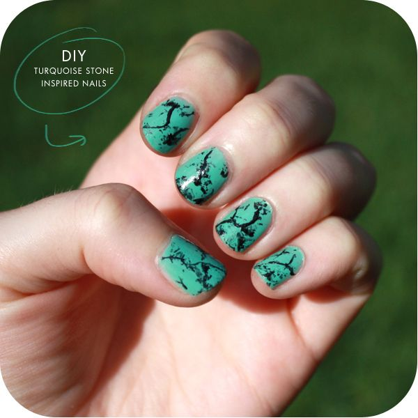 Turquoise Stone Inspired Nails