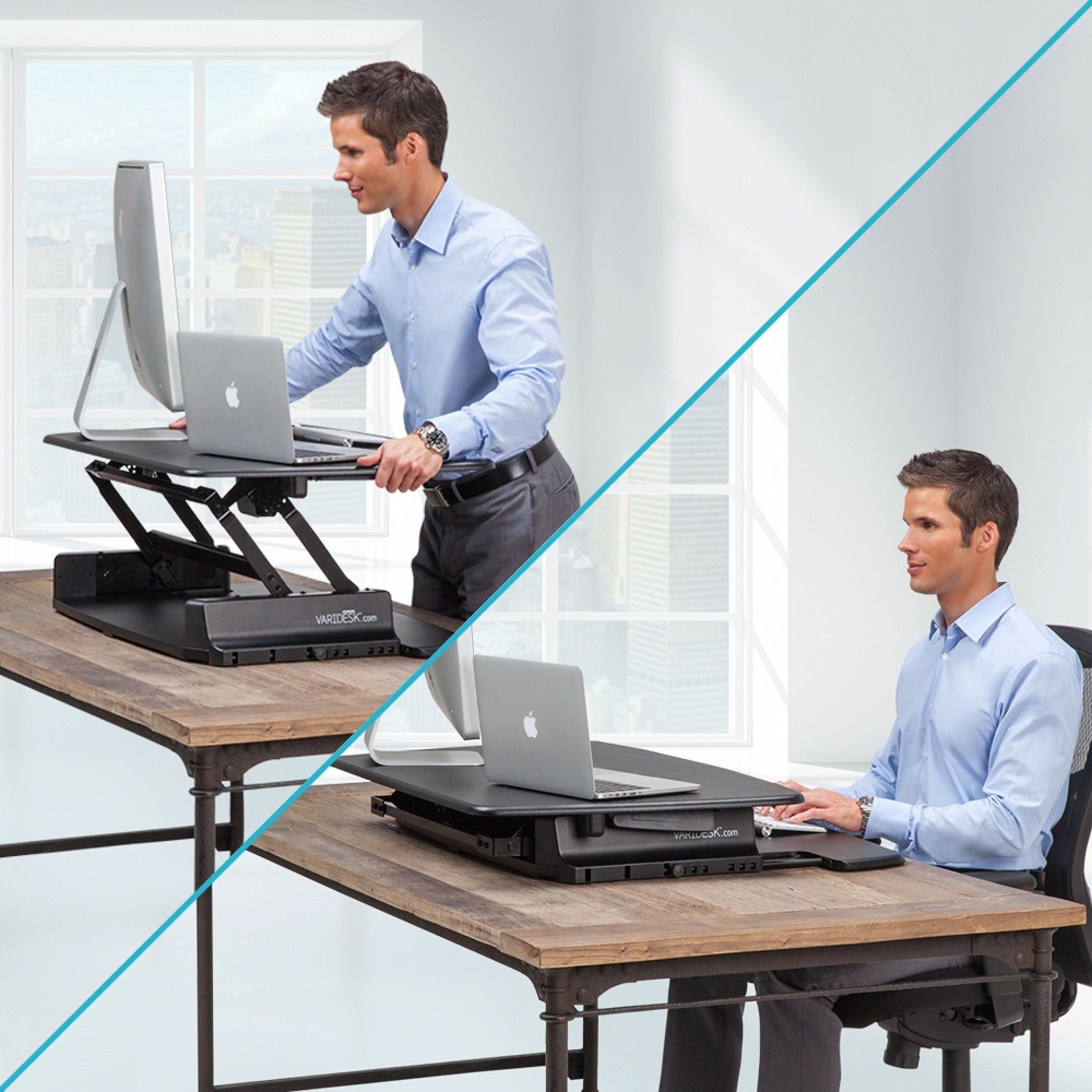 Varidesk pro 36 height adjustable black for Standing desk at home