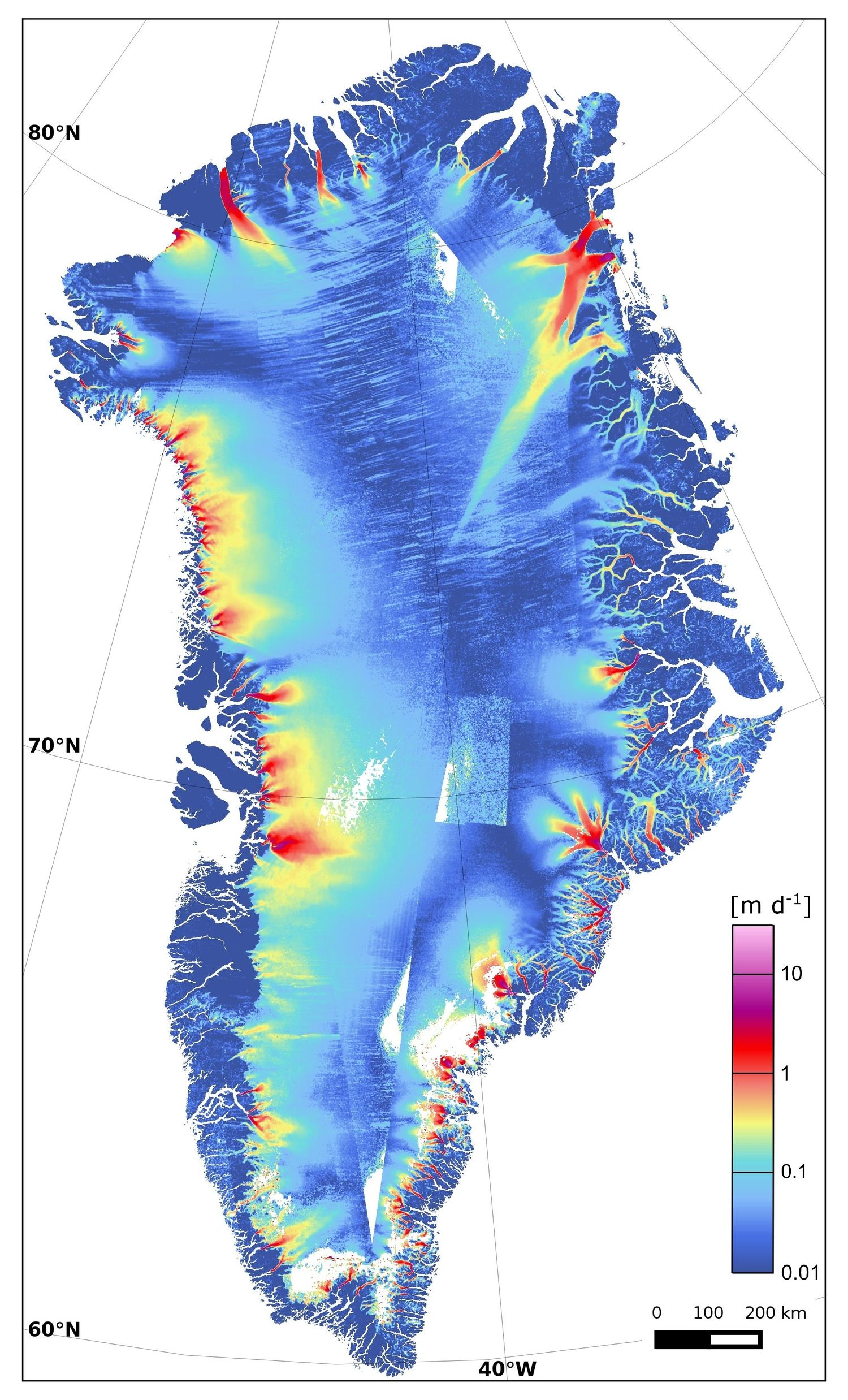 Keeping Watch On Greenlands Rapidly Disappearing Ice - Greenland map