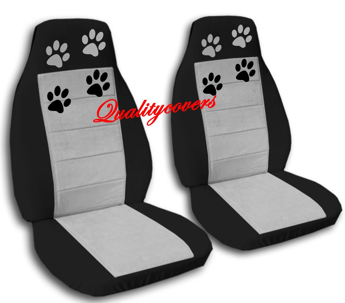 Paw Prints Car Seat Covers Edgy Auto Designs Pawprint