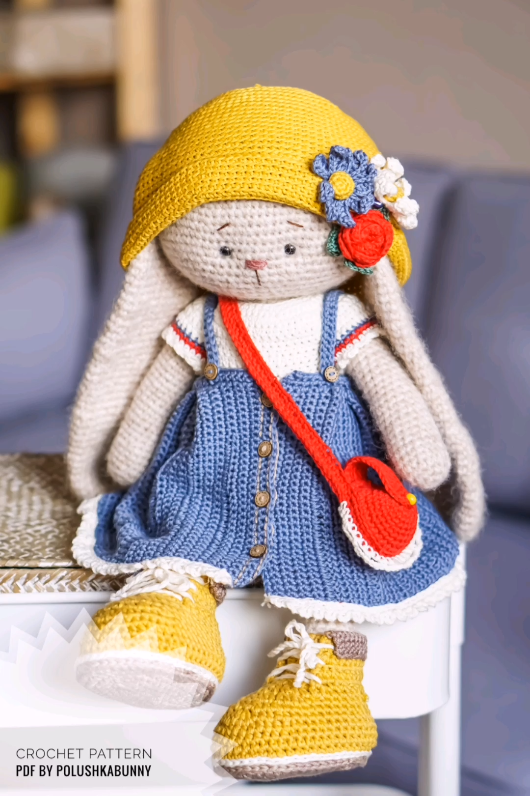 """Photo of Crochet Pattern Outfit """"Kylie"""" for Bunny Toy by Polushkabunny #crochet #pattern #bunny #outfit #diy"""