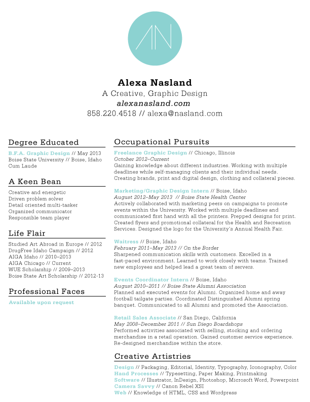 Resume Design  Typography    Business Resume Ideas