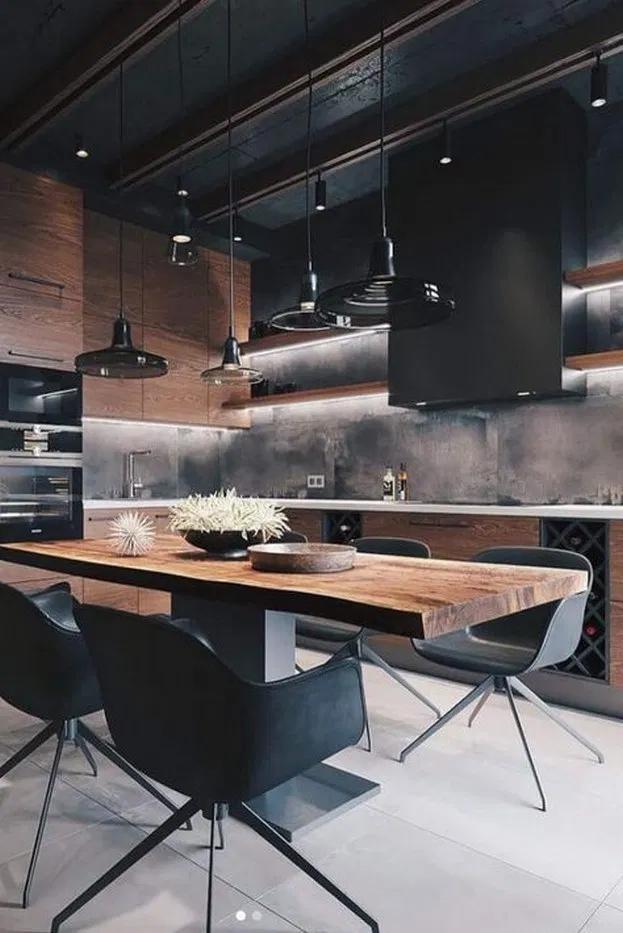 33 Inspiring Kitchen Interior Design Ideas From Pinterest 33 Inspiring Kitchen Interio In 2020 Scandinavian Kitchen Design Luxury Kitchens Home Decor Kitchen