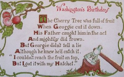 13++ George washington cherry tree coloring page free download