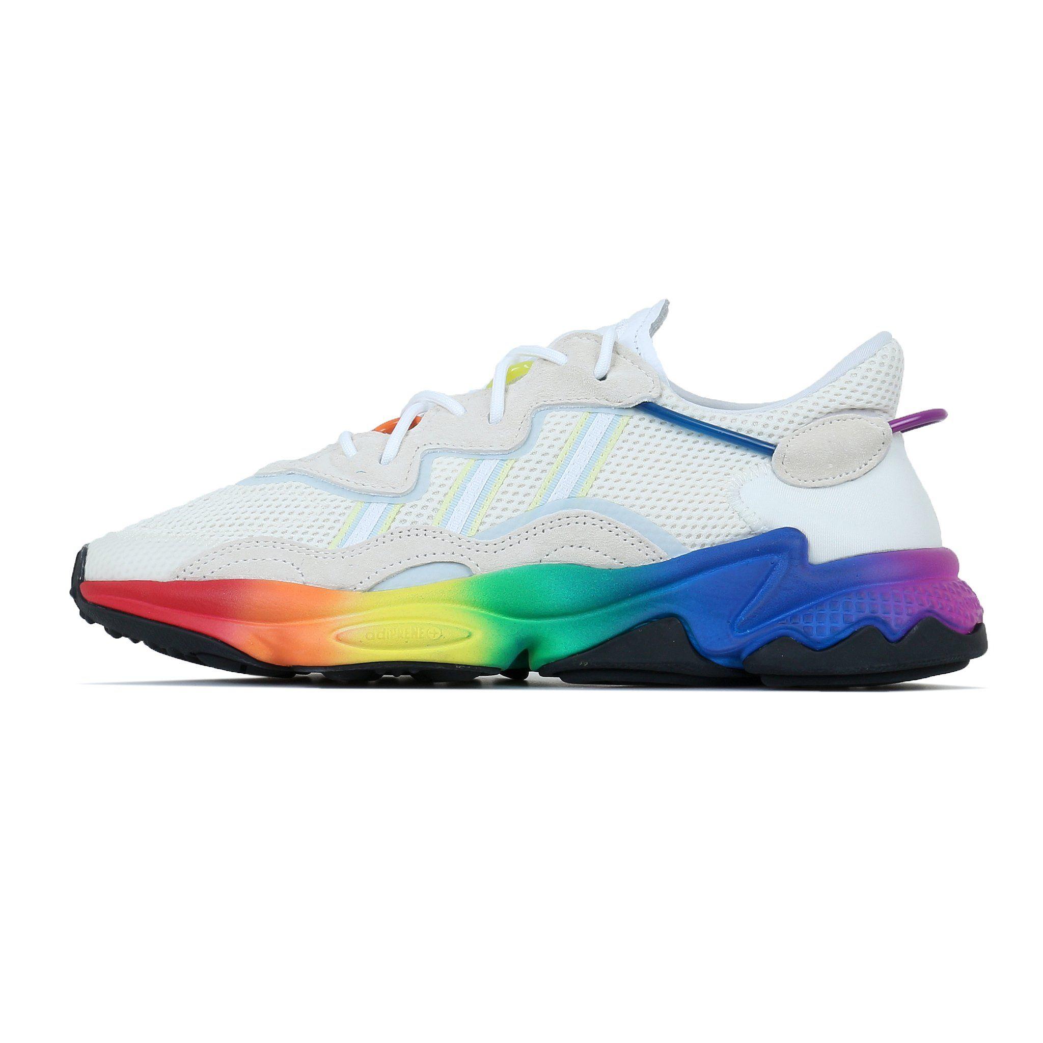 Adidas Originals Ozweego Pride - Off White / Blue Tint ...