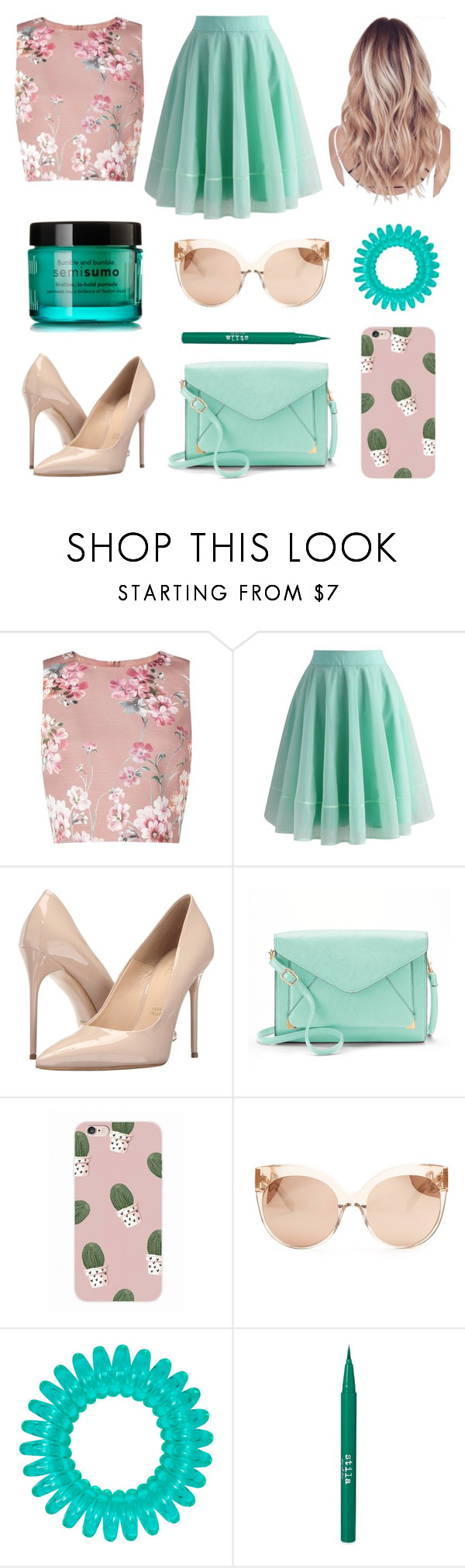 """""""Untitled #82"""" by niniber002 ❤ liked on Polyvore featuring Miss Selfridge, Chicwish, Massimo Matteo, Apt. 9, Linda Farrow, Stila and Bumble and bumble"""