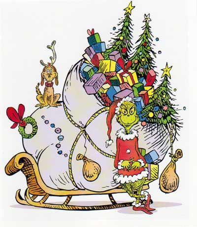 Grinch and Sleigh (With images) | Grinch christmas ...