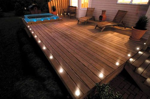 30 Ideas To Use Wood Decking On Patios And Terraces Shelterness Wood Deck Backyard Deck Lights