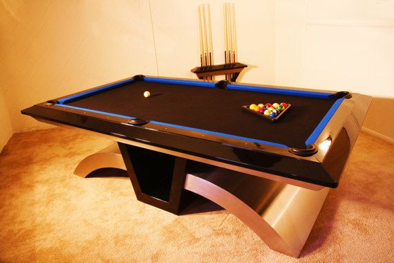 """Featured here is the original 8 foot """"Vibe"""" billiard table ..."""