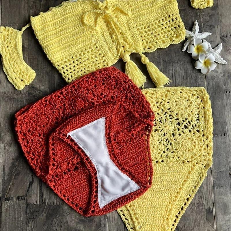 Hand-crocheted Filigree High-waisted Shorts Papilio SHORTS