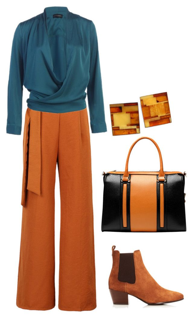 """""""Amber & Teal"""" by yfantjie ❤ liked on Polyvore featuring WithChic, Vicenzo Leather, Sam Edelman, familydinner and 60secondstyle"""