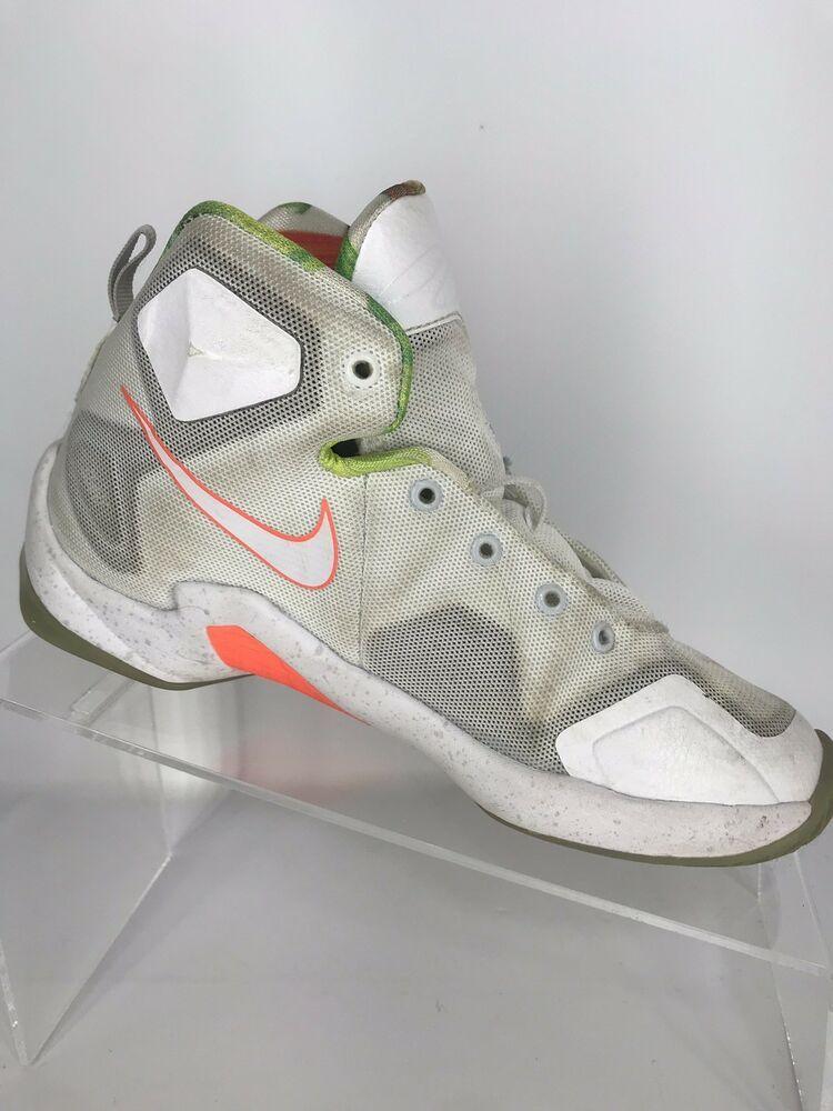 Nike Lebron James Xiii 13 White Mango Basketball Shoes 808710 108 Youth Size 2y Ebay Nike Lebron Basketball Shoes Nike
