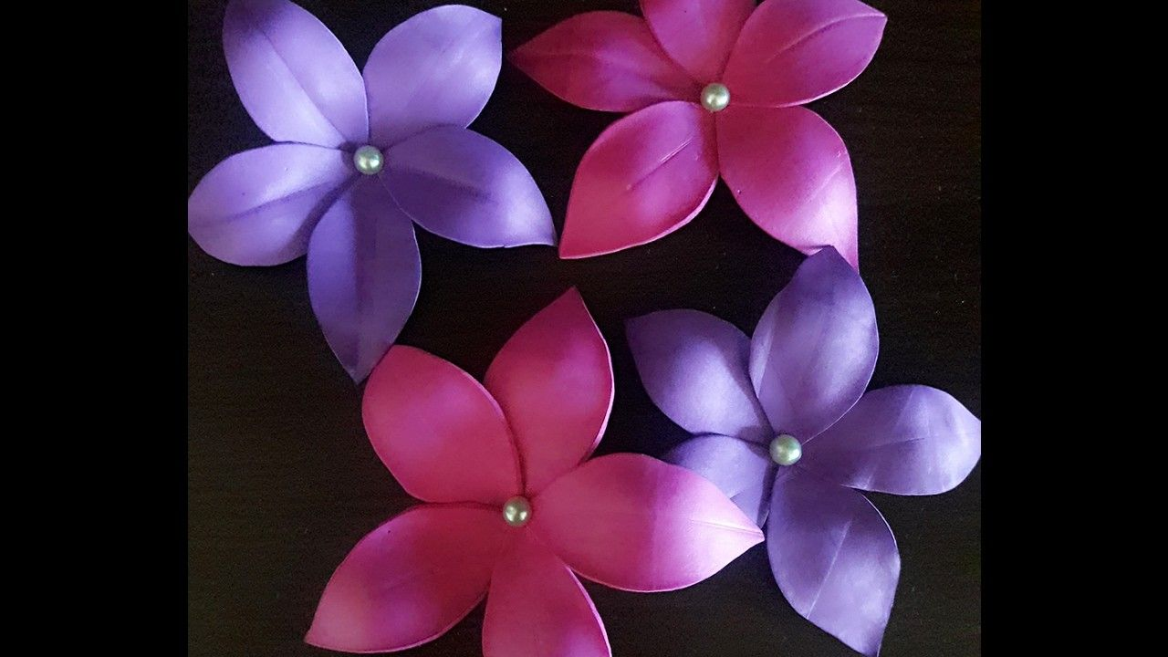How To Make Flowers For Decor With Foam Sheet Five Minutes Craft