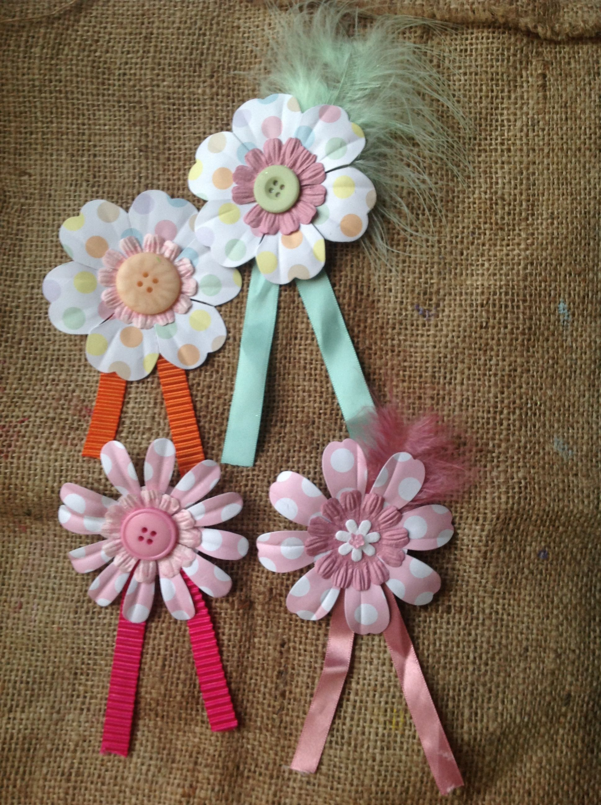 Made By Lowrie Paper Flower Brooches School Holiday Crafts With My
