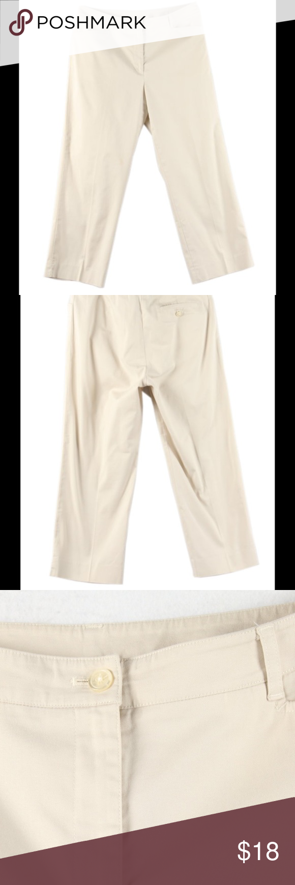 "Jones New York signature khaki cropped pant Like new, size 8. Waist 32"", front rise 10"", back rise 12"", inseam 25"". Wash cold. Great for in the office! Jones New York Pants Ankle & Cropped"