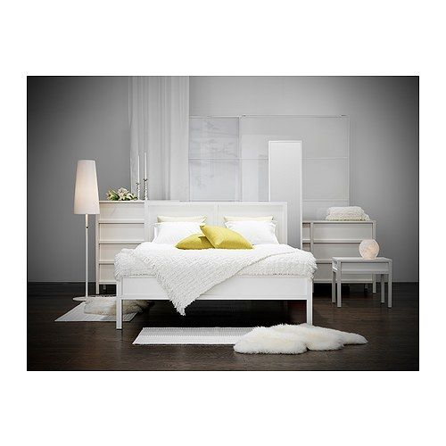 IKEA Trondheim bed + bedside table | Home | Pinterest