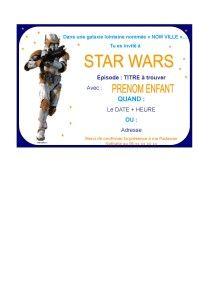 tuto invitation mode de compatibilit page 7 - Carte Anniversaire Star Wars Imprimer