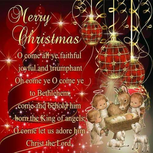 Merry Christmas Dear Friend O Come Let Us Adore Him Christ The