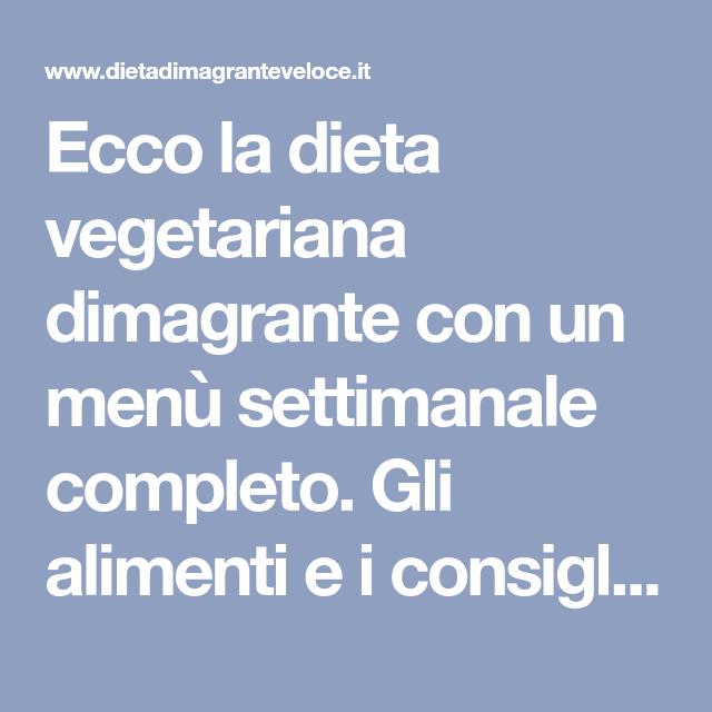 dieta vegetariana dimagrante con pesce