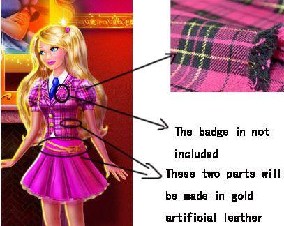 Custom Blair Willows Cosplay Costume From Barbie Princess Charm School