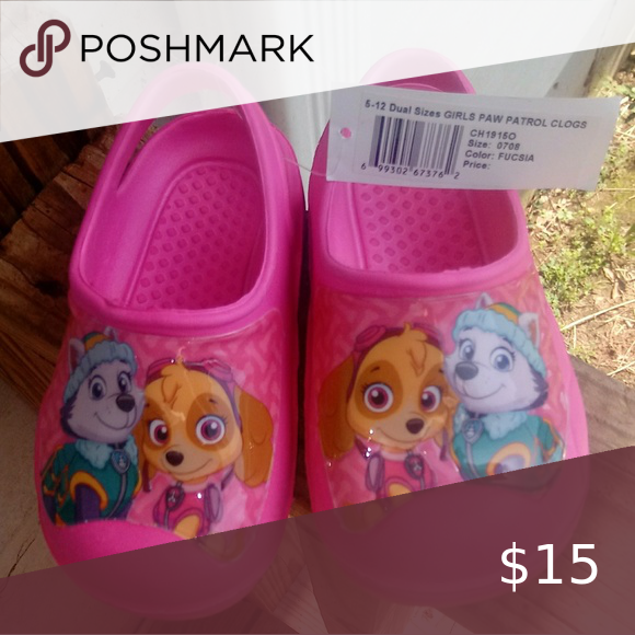 Paw Patrol Croc style shoes for Toddler
