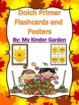 Here is a set of fall leaf Dolch Primer Sight Word Cards that can be used at the beginning of the school year or anytime.The set includes a full page card and a small card for each word from the Dolch Primer list.  You might also like:  Fall Leaf Letter Flashcards and Posters BundleFall Leaf Number Flashcards and Posters Bundle 0-100The awesome clip art is from:Background Paper:  2 Smart ChicksFrame:  Lovin LitFall Pictures:  Whimsy ClipsClick Here To Follow My Kinder Garden on…