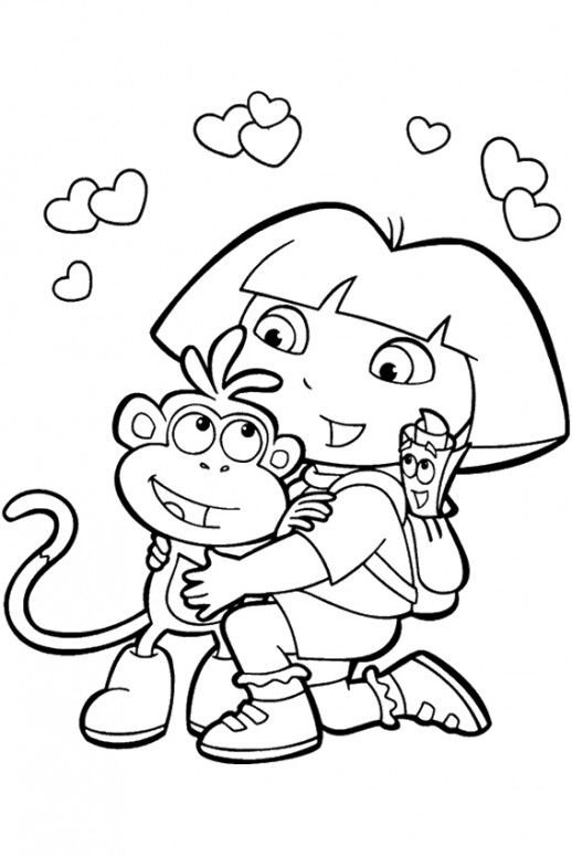 coloring pages for girls dora and friends kids pictures