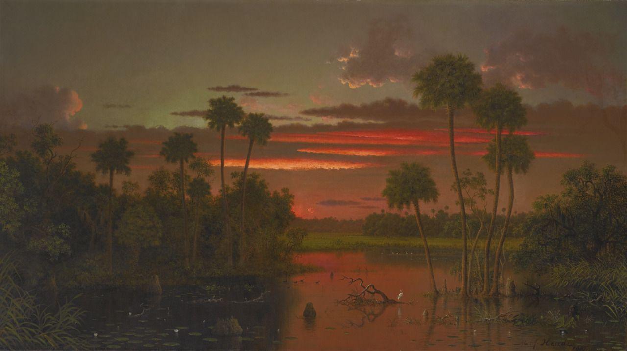 The Great Florida Sunset, 1887, Martin Johnson Heade