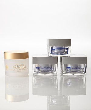 This Anti-Wrinkle Cream & Anti-Aging Facial Scrub Set by Dead Sea Spa is perfect! #zulilyfinds