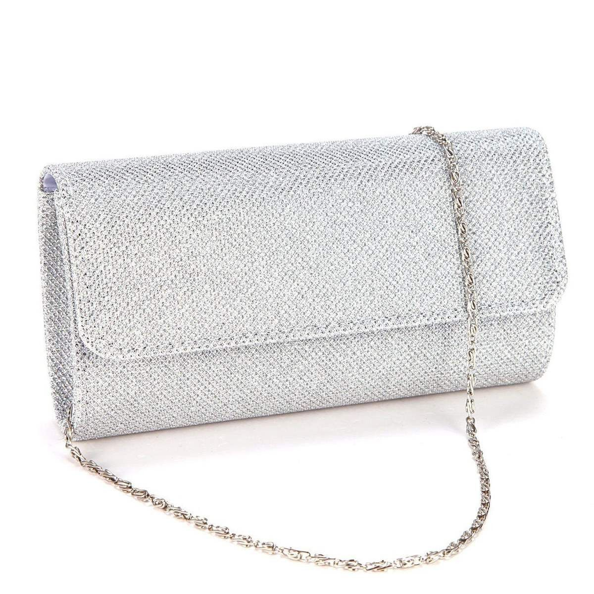 Women Small Clutch Metallic Leather Gloss Ladies Prom Evening Envelope Party Bag