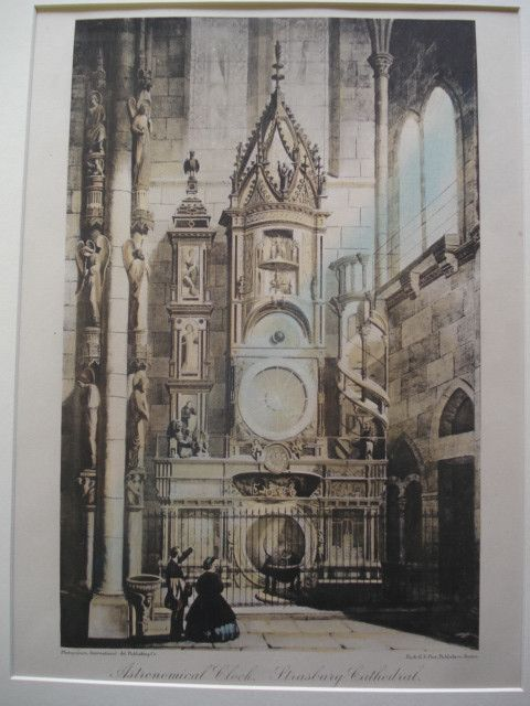 Sketch of Astronomical Clock in the Strasbourg Cathedral , Strasbourg, France, EUR, 1886, Unknown