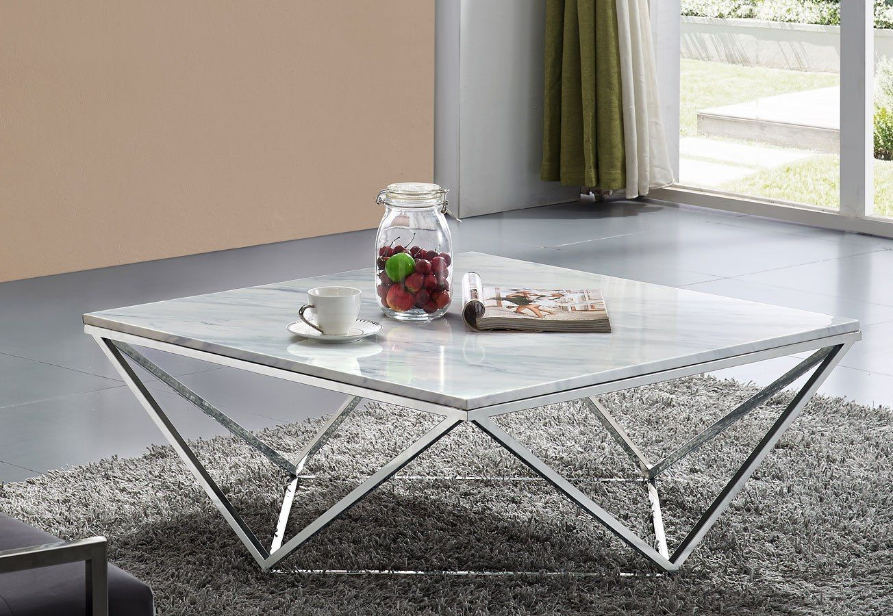 Keep The Modern Vibe Going With This Skyler Stainless Steel Collection By Meridian Furniture This Tab Coffee Table Meridian Furniture Decorating Coffee Tables [ 900 x 1304 Pixel ]