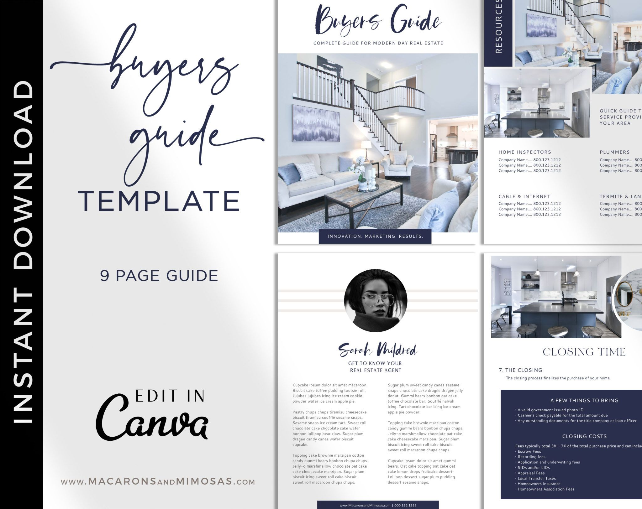 Buyers Guide Template for Canva • Macarons and Mimosas