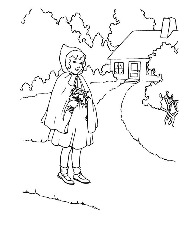 little red riding hood coloring pages az coloring pages