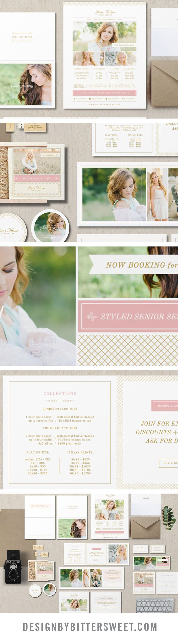 Senior photography marketing templates professional photographer senior photography marketing templates professional photographer branding materials pricing guides graduation announcements magicingreecefo Image collections