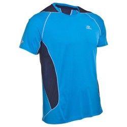 Camiseta de manga corta de running hombre Kalenji Eliofeel azul ... 63e423473a61f