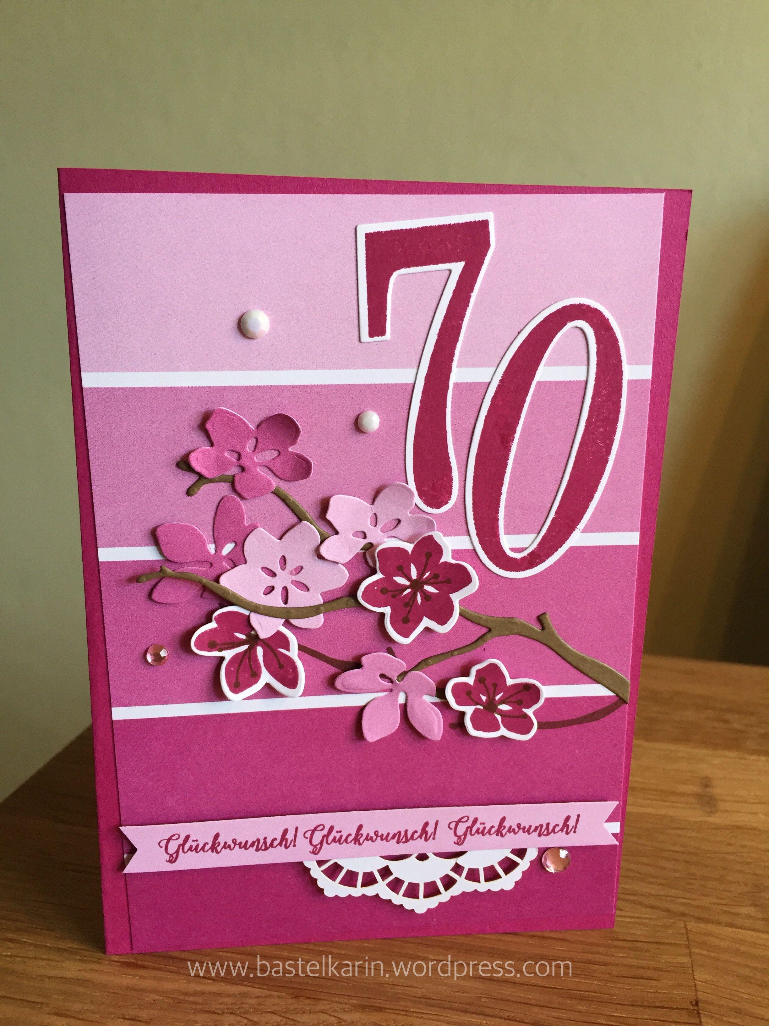 Karte Zum 70 Geburtstag Geburtstag Karte Geburtstag