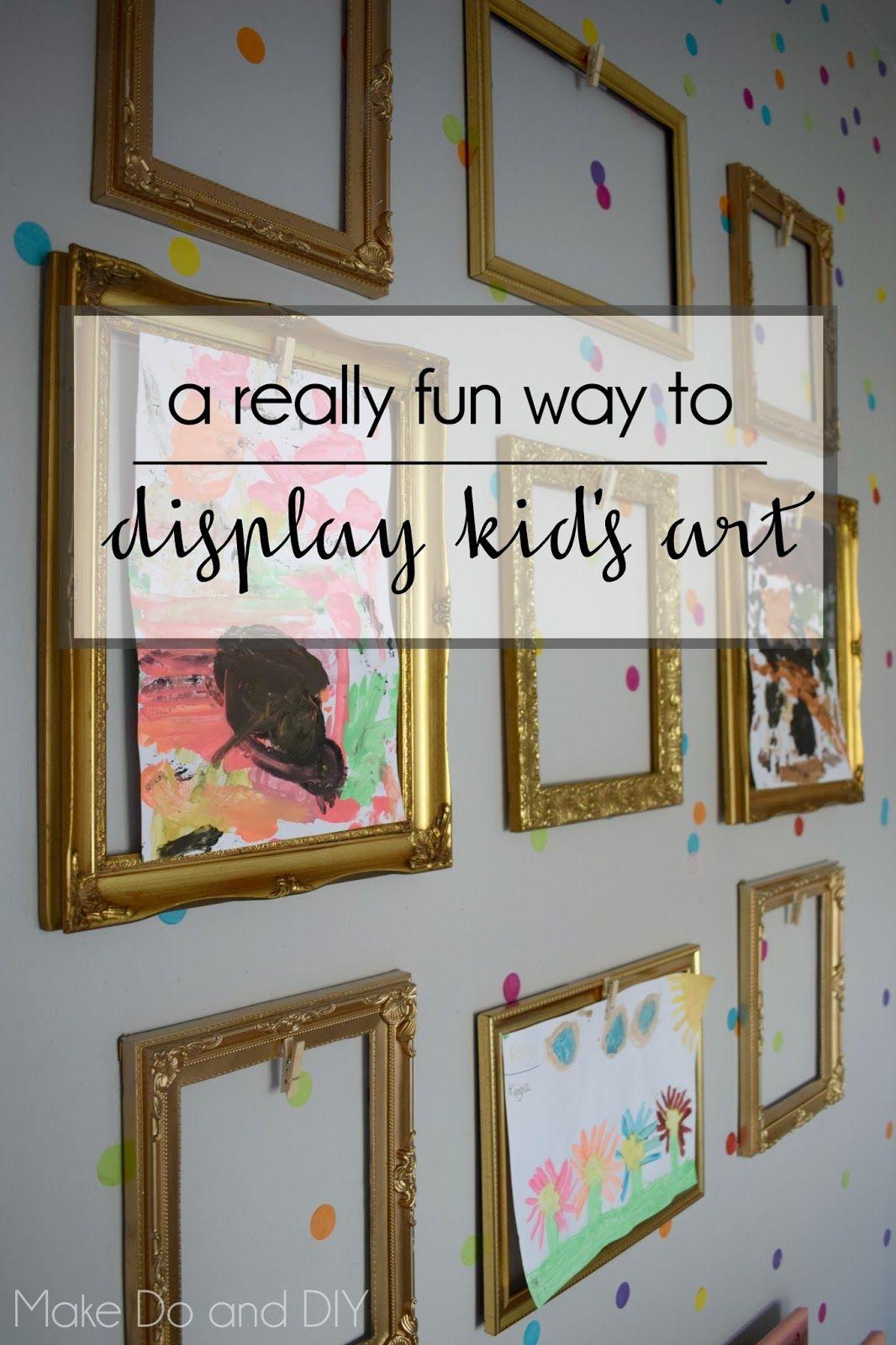 empty frames display kids art | Home | Pinterest | Display kids art ...