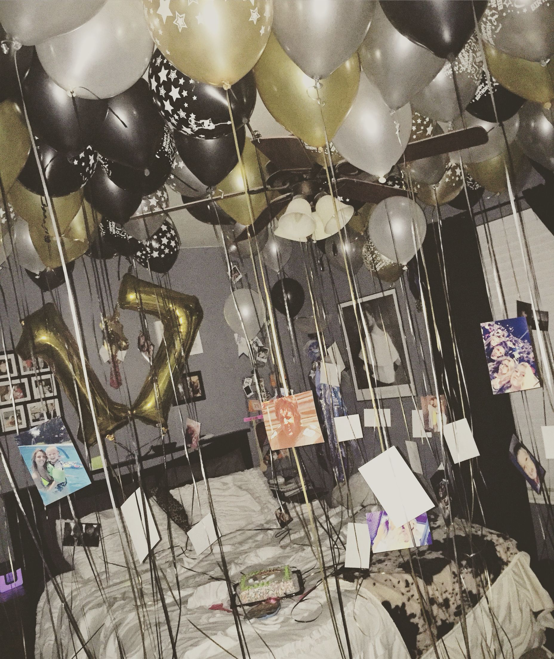 Room Ideas Teen Girl Birthday Balloons Happy 17 My Sisters 17th Bday Was A Success