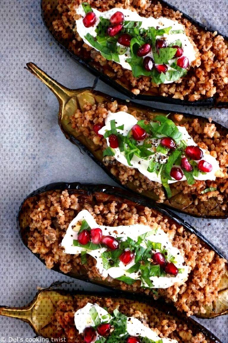 Aubergines farcies au quinoa — Del's cooking twistAubergines farcies au quinoa — Del's cooking