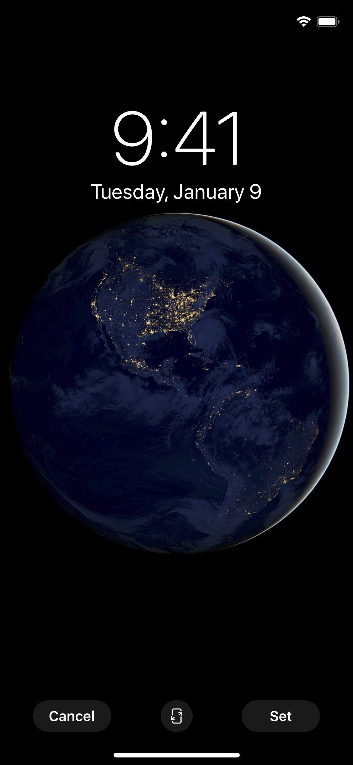 Dark Side Of Planet Earth With True Black Background Iphone