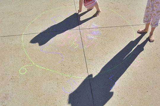 Sidewalk chalk Sundial
