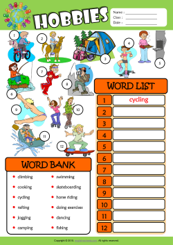 Hobbies ESL Find and Write the Words Worksheet For Kids | ENGLISH ...