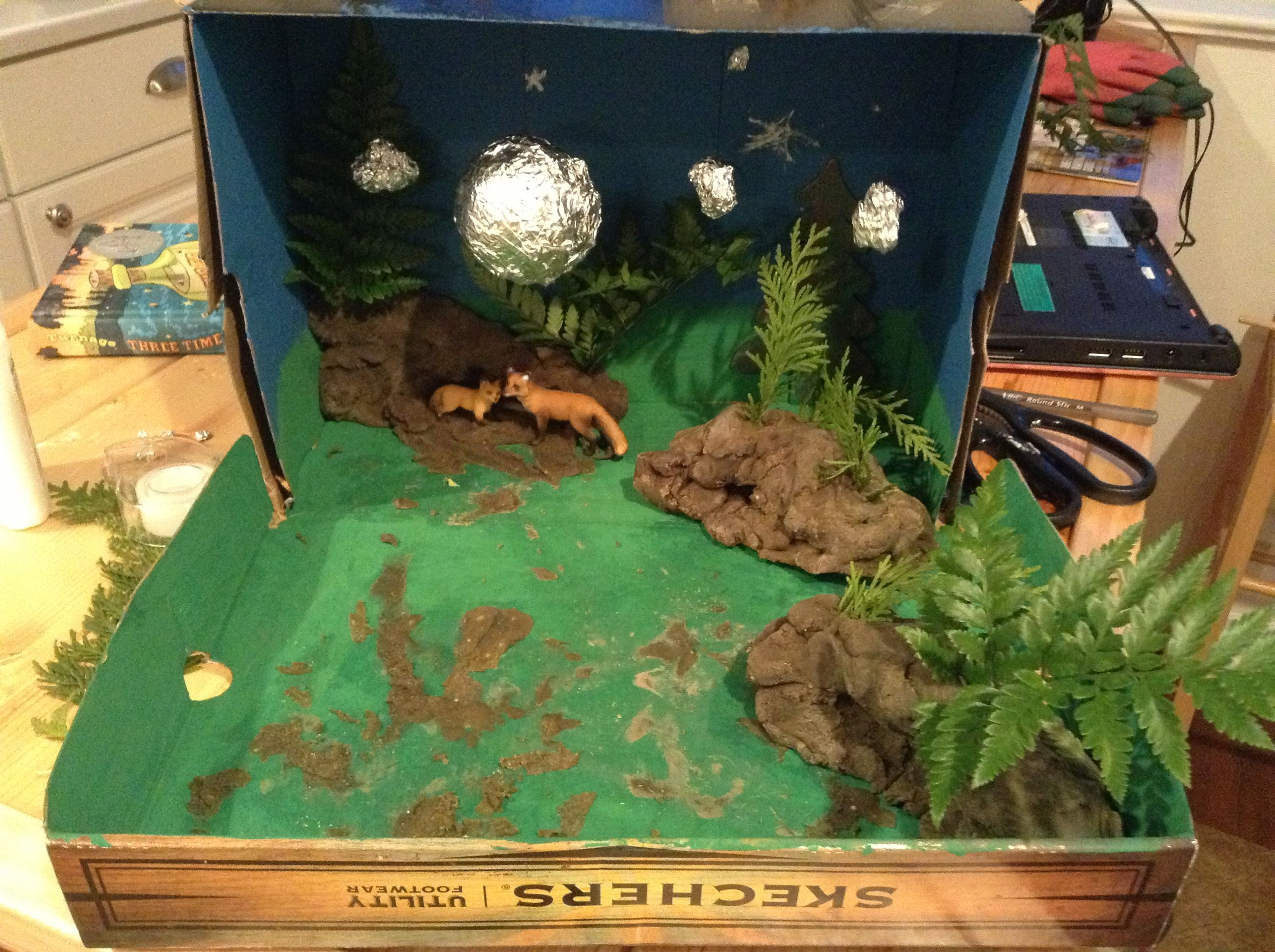 Red Fox Diorama